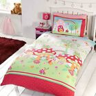 Girls Magic Garden Floral Single Double Duvet Quilt Bedding Set - Perfect Gift