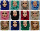 Plain Maxi Hijabs, Ombre Glittered & Printed One Piece Viscose Scarves Free P&P
