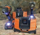 Ridgid 18-Volt Hyper Lithium-Ion Cordless Drill And Impact Driver Combo Kit X4