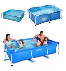 METAL FRAME FAMILY GARDEN SWIMMING PADDLING POOL SUMMER WATER GARDEN FUN 3 SIZES
