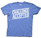 How I Met Your Mother Challenge Accepted Licensed NWT Adult T-Shirt - Blue