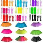NEON TUTU SKIRT GLOVES BEADS NECKLACE LEGWARMERS OR SET 80S COSTUME