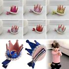 Dacing Birthday Party Hair Boutique Baby Girls Princess Pearl Crown Hair Clips