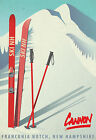 Vintage CANNON, NEW HAMPSHIRE USA Skiing/Travel Poster A1A2A3A4Sizes