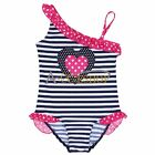 Baby Girl Sweet Heart One-Piece Swimwear Toddler Kid Swimsuit Child Bathing Suit