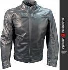 Richa Cafe Black Soft Leather Motorcycle Jacket Sports Retro Casual Classic