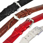 Genuine Leather Watch Strap Buckle Band Unisex 12-26mm 4 colors