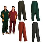 NEW MENS WOMENS UNISEX PANTS TROUSER TRAINING TRACKIES GYM PANT LONG ZIP WORK