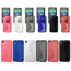 Soft Rubber TPU Silicone Gel S-Wave Back Case Cover Skin For HTC Desire 820 820S