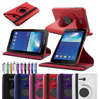 "FOR SAMSUNG GALAXY Tab 3 Lite 7"" T110 PU LEATHER FLIP CASE COVER + STYLUS"