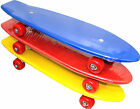 "21"" Retro Skateboard Complete Deck Mini Plastic Complete Skate Board Red, Blue"