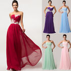 PLUS Long Sexy Beaded Chiffon Ball Gown Evening Prom Formal Long Party Dresses
