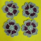 4 Flower Floral Lace Applique Sew on Patch Collar Decoration Embroidery Motif