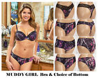 MUDDY GIRL-Camouflage Bra and Pantie or Thong Set