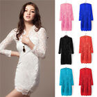 Blouse Womens Lovely Lace Cocktail Party Cocktail Evening Bodycon Pencil Dress