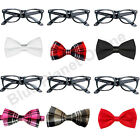 Geek Nerd Glasses & Bow Tie Fancy Dress Costume Kit School Girl Boy