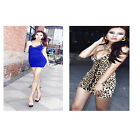 Stylish Ladys Leopard Sexy Backless Rock Slim Mini Clubwear Cocktail Party Dress