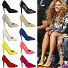 NEW WOMENS LADIES COURT SHOES PUMPS HIGH HEEL STILETTO OFFICE PROM PARTY SIZE