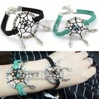 1pc Handmade Dream Catcher Charms Bracelet Natural Stone Alloy Feather Pendant