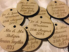 Personalised Engraved Wooden Tags 4cm Table Decorations Wedding Favours or Party