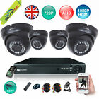 4 Channel AHD HD CCTV DVR Recorder HD Dome Security Camera kit UK Seller