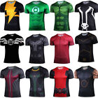 Men Short Sleeve T-shirt Avengers Marvel Thor Spiderman Superhero Cosplay Jersey