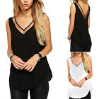 Casual Womens V-Neck Vest Summer Loose Sleeveless Tank T-Shirt Tops Blouse