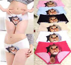 FD2678 Women Sexy Cat Print Briefs Panties Thong Lingerie Underwear Safety Pants