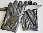 Leather Gloves Anti--Slash POLICE Doorman Bouncer Security SIA