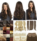 """NEW LADIES STRAIGHT CURLY CLIP IN 3 PIECE SET WEFT 24"""" HAIR EXTENSIONS UK SELLER"""