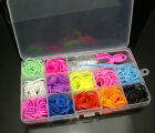 Colourful Loom Rainbow Rubber Bands Bracelet Making Kit 2200pcs With S Clips