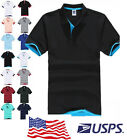 USA Stocks Stylish Men's Comfy Golf Polo Shirt Multicolor TOP M/L/XL/2XL/3XL