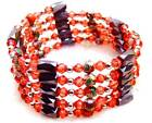 SALE Red 6mm round Cloisonne Hematite Magnetic Beads necklace / Bracelet-b279