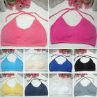 Cool Women Seamless Sports Bra Tank Top Halter Light Bra Pad With Strap Vest Top