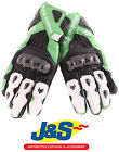 FRANK THOMAS FT2 LEATHER MOTORCYCLE GLOVES MOTORBIKE GLOVE RACING RACEGREEN J&S