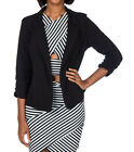 ESSENTIALS CROSSOVER BACK CROPPED BLAZER