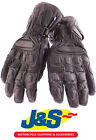 FRANK THOMAS FT8 WATERPROOF LEATHER MOTORCYCLE GLOVES MOTORBIKE GLOVE BLACK J&S