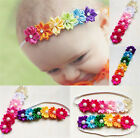 Girl Baby Toddler Six Colorful Flower Pearls Hairband Headband Headdress Cute