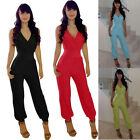 Summer Sexy Womens Bandage Playsuit Clubwear Romper Jumpsuit Party Long Pants