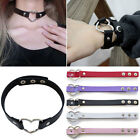 Women Classic Gothic Punk Choker Collar Necklace Pendant Leather Chain Neck Ring