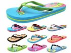 Womens Girls Urban Beach Sandals Flip Flops Toe Posts Kids Summer Shoes Size 9-8