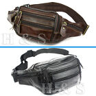 High Quality Real Soft Leather Bum Waist Bag Travel Mens Waterproof Money Belt