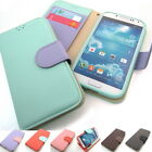 Pastel color Kickstand Slim Flip Leather Wallet Case Cover For iPhone Galaxy LG