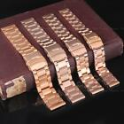 Luxury Men Women Rose Gold Thick Stainless Steel Watch Band Strap Bracelet Links