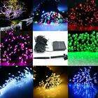 60/100/200 LED String Solar Light Garden Outdoor Xmas Party Fairy Tree Deco Lamp