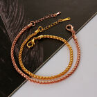 Classic 18K Yellow Rose Gold Plated Chain Link Bracelet Men Women Cuff Jewellery
