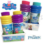 DISNEY FROZEN PEPPA PIG SUPER BUBBLES TWIN PACK 250ML OUTDOOR FUN PARTY