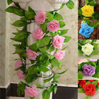 8.2ft Artificial Silk Rose Flower Vine Ivy Decoration Garland Wedding Home Decor