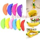 Chic Silicon Pocket Banana Shape Zip Coin Purse Bag Pouch Wristlet Change Wallet