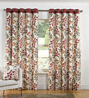 HEAVY ORANGE & RED BOTANICAL EYELET RING TOP CURTAINS SAVE 30%.NEXT DAY DELIVERY